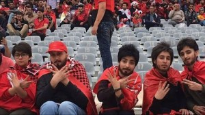 Iranian women disguised as men sneak into soccer match