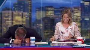 Scott and Amber get the giggles when Jordan Witzel talks 'swinging'