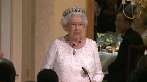 Queen Elizabeth II thanks Prime Minister Justin Trudeau for making her 'feel so old'