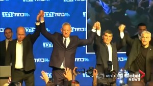 Benny Gantz claims victory in Israeli post election speech