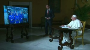 Pope Francis makes call to space to speak with astronauts on the International Space Station