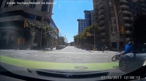 Dash cam captures Ottawa cyclist getting struck by car