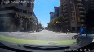 Dash cam captures Ottawa cyclist getting struck by car