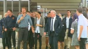 Prince Harry, Meghan Markle visit school targeted at improving indigenous Australia's education