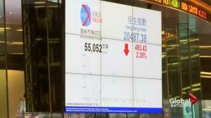 Markets shake after China halts trading again