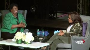 Stacey Abrams tells Oprah Winfrey that midterm election will be 'razor close'