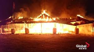 Suspicious fire levels Cawston fruit stand (00:36)