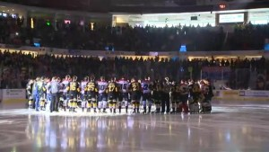 Lethbridge Hurricanes, Brandon Wheat Kings hold moment of silence for Humboldt Broncos