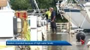 Play video: High water levels leave boaters stranded