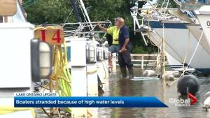 High water levels leave boaters stranded