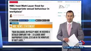 Online reaction to NBC 'Today'  host Matt Lauer being fired