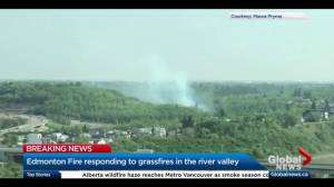 Blazes break out in Edmonton's river valley amid hot, dry conditions