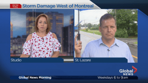 Storm damage West of Montreal