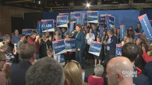 Christy Clark warns supporters Trump could stomp on BC economy