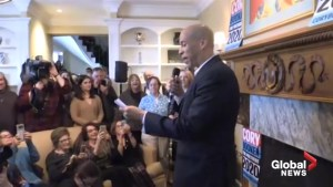 Senator Cory Booker spends his second straight day in a swing through New Hampshire