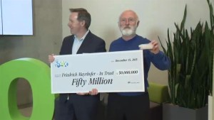 $50 million Lotto Max winner in BC collects his prize
