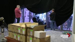 Emergency crews work on scene Deadpool 2 accident