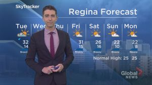 Global Regina Weather July 9, 2018
