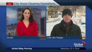 Montreal snowstorm cleanup