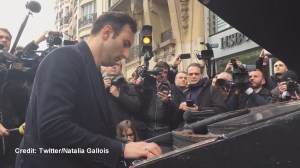 Pianist performs John Lennon's 'Imagine' outside of Bataclan concert hall day after deadly attacks