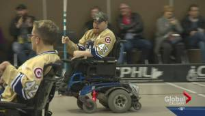 Gotta See It: Wheelchair hockey player scores 1000th goal