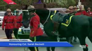 Funeral procession underway for fallen RCMP Cst. Sarah Beckett