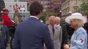 Trudeau greets Prince Charles at Canada 150 celebrations