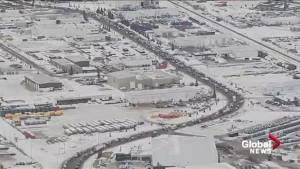 Alberta truck convoy in support of oil and gas industry