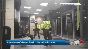 Debate over edited video of arrest at Toronto's Union Station