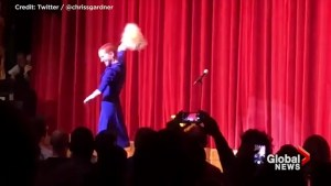 Kathy Griffin dons Donald Trump mask during stand-up comedy return