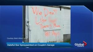 Pickering couple target of homophobic graffiti, threat