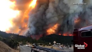 Amateur video shows Delta Fire burning out of control in northern California