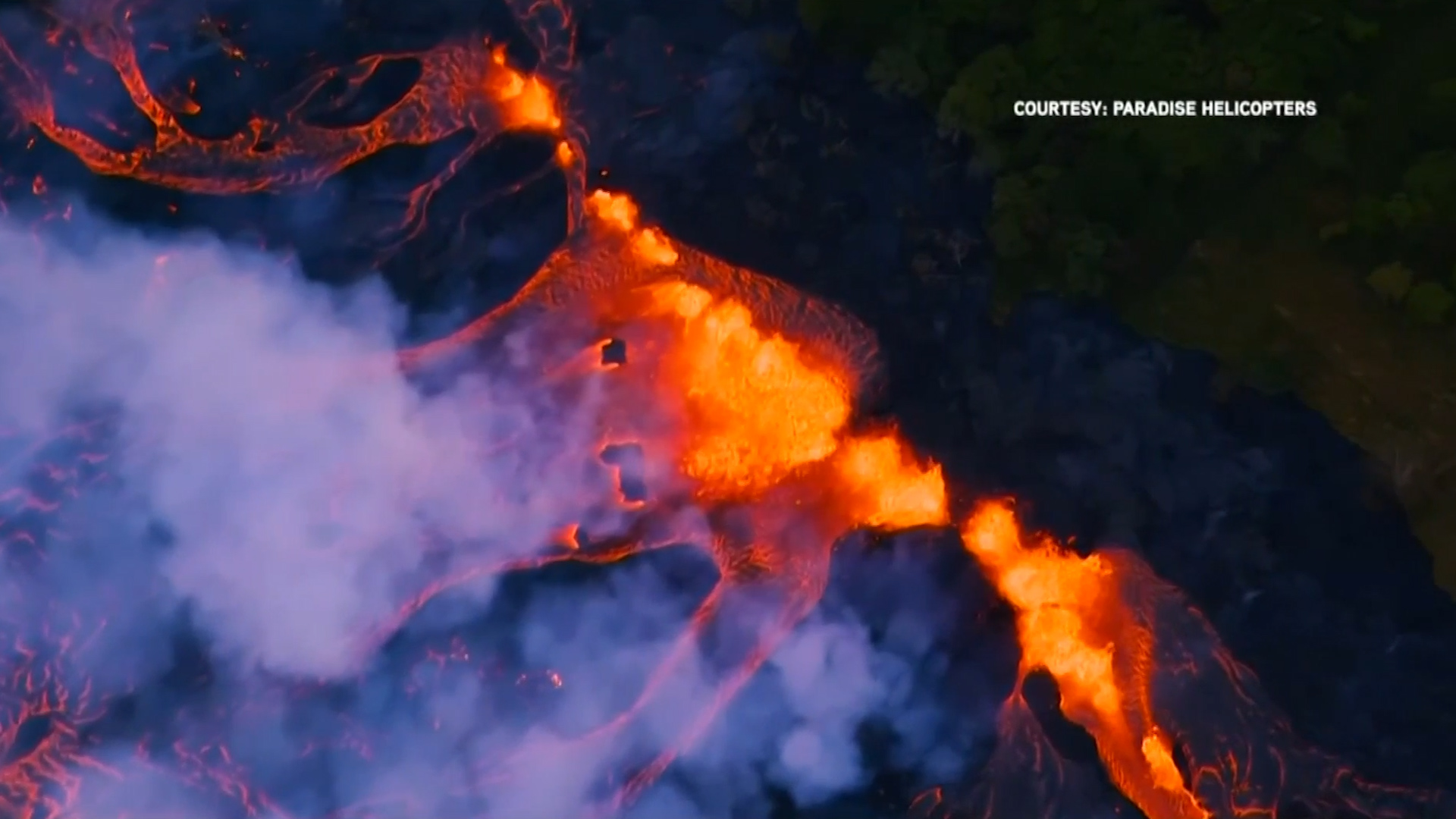 Hawaii officials warn of danger of 'laze' as Kilauea volcano lava reaches Pacific Ocean