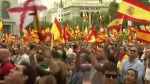 Spanish demonstrators rally in Madrid against planned Catalonia independence referendum