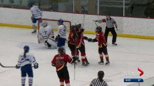 Calgary Inferno react to Canadian Women's Hockey League folding