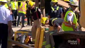Man trapped in trench at Oshawa construction site