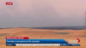 Grass fire in southeast Alberta leads to evacuation order