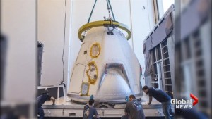 SpaceX ships Dragon spacecraft which will carry humans into space to Cape Canaveral