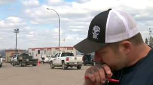 'It was tough, it was really tough': volunteer firefighter tears up talking wildfire devastation