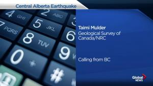 Alberta earthquake: Taimi Mulder from the Geological Survey of Canada