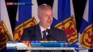 Nova Scotia election: Jamie Baillie full speech at PC headquarters