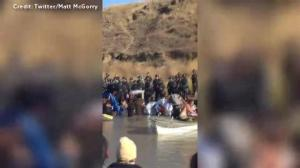 Protesters pepper-sprayed during Dakota Access Pipeline protests