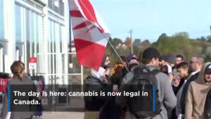Line-ups outside Cannabis NB stores
