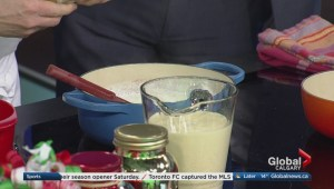 Cooking lessons at SAIT: homemade eggnog