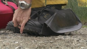 Firefighters practice muddy life-saving drills