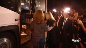 Florida school shooting survivors arrive at Florida state legislature to push for better gun control