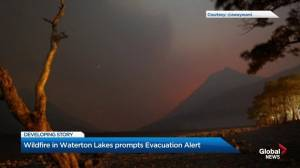 Wildfire prompts evacuation alert for Waterton Lakes National Park
