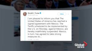 Donald Trump says tariffs on Mexico suspended after agreement reached on migration
