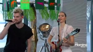 "Sofi Tukker performs ""Best Friend"" on The Morning Show"