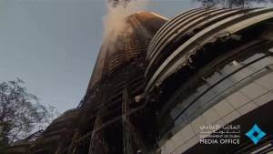 Dubai hotel interior damage assessed following New Year's Eve fire